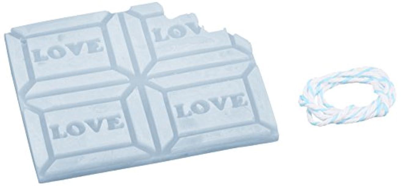 路面電車啓示シュートGRASSE TOKYO AROMATICWAXチャーム「板チョコ(LOVE)」(BL) ローズマリー アロマティックワックス グラーストウキョウ