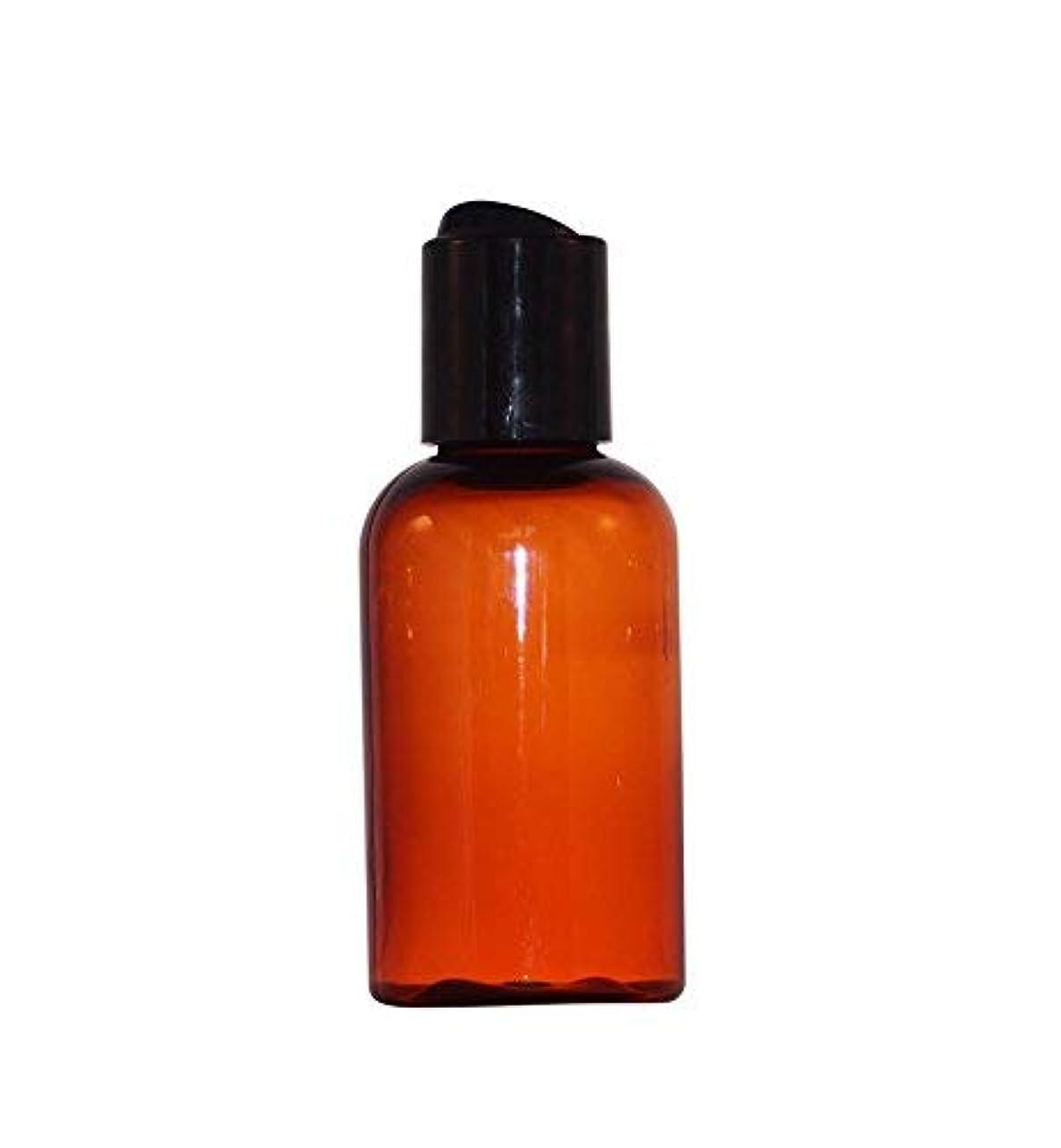 WM (Bulk Pack of 24) 2 oz Amber Refillable, Reusable Bottle W/Press Disc Cap. Travel, DIY Lotion, Shampoo, Soap...
