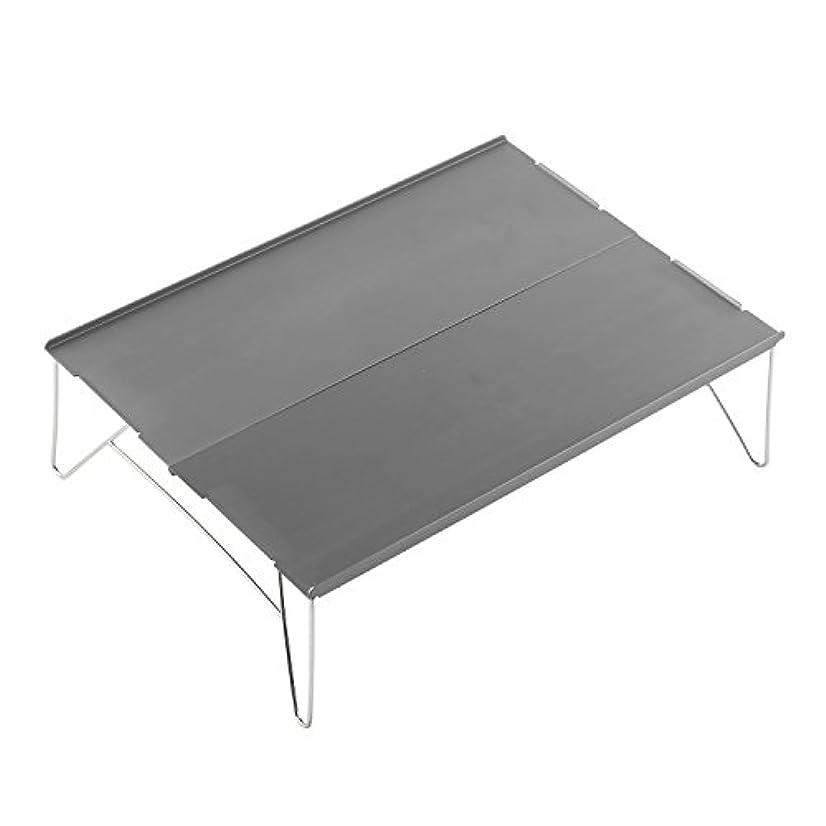 配る上げる中古FLYFLYGO テーブル アルミ製 組み立て式 超軽量テーブル ミニテーブル 収納袋付き アウトドアも室内も使用