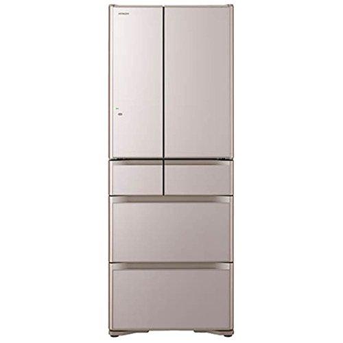 日立 505L 6ドア冷蔵庫(クリスタルシャンパン)HITACHI 真空チルド R-XG5100G-XN