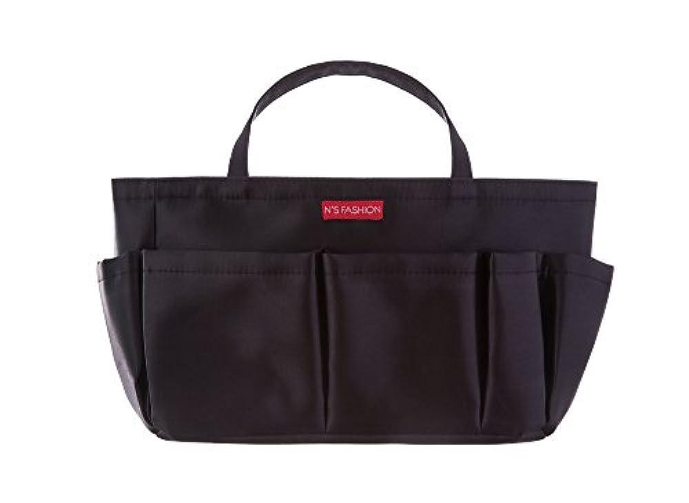 フルート欠員要求コスメも入るバッグインバッグ ブラック