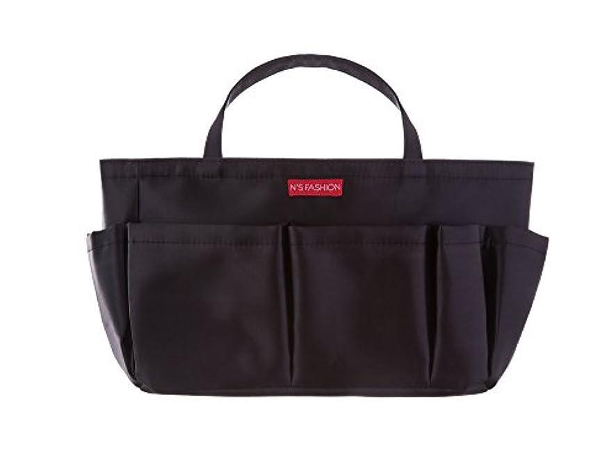 教える証人ポップコスメも入るバッグインバッグ ブラック