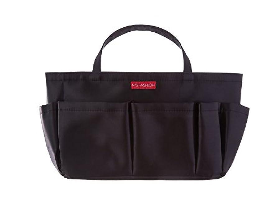 論争的成り立つ寄り添うコスメも入るバッグインバッグ ブラック
