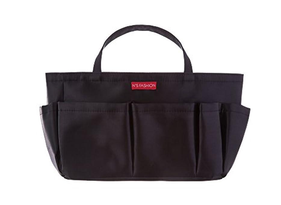 お願いします不毛の鎖コスメも入るバッグインバッグ ブラック