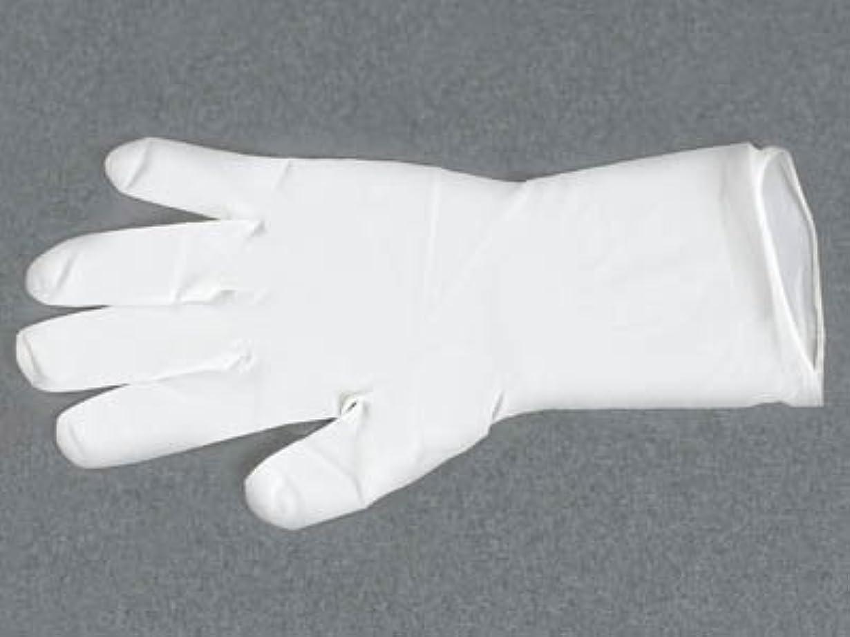 ニトリル極薄ロング手袋 パウダー付 M(100枚入)
