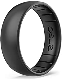 Enso Rings Classic Elements Silicone Ring | Made in The USA |Infused with Precious Elements | Lifetime Quality Guarantee | Comfortable, Breathable, and Safe