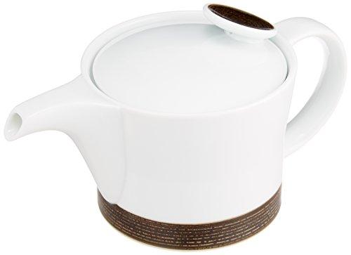 白山陶器 ポット セピア (約)φ10×9cm 400ml 麻の糸 ASA NO ITO 波佐見焼 日本製