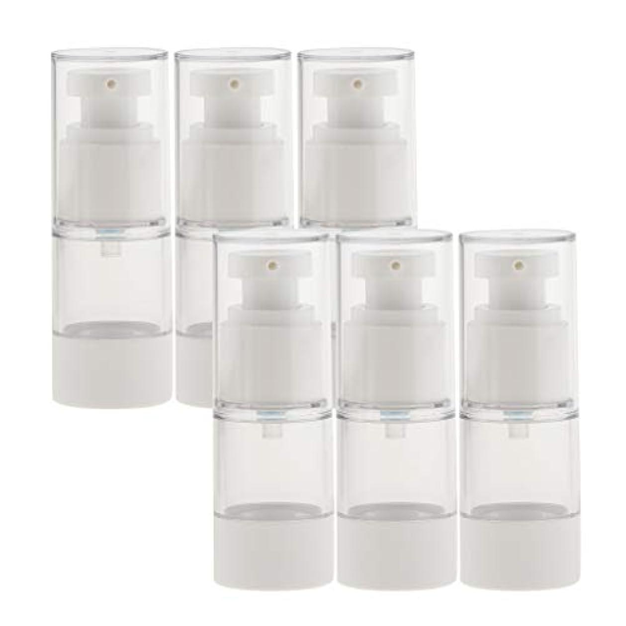守銭奴洞察力夕暮れB Baosity 6個 真空スプレーボトル 香水ボトル ポンプボトル コスメ 化粧品 小分け用 詰替え ボトル 2サイズ選べ - 15ミリリットル