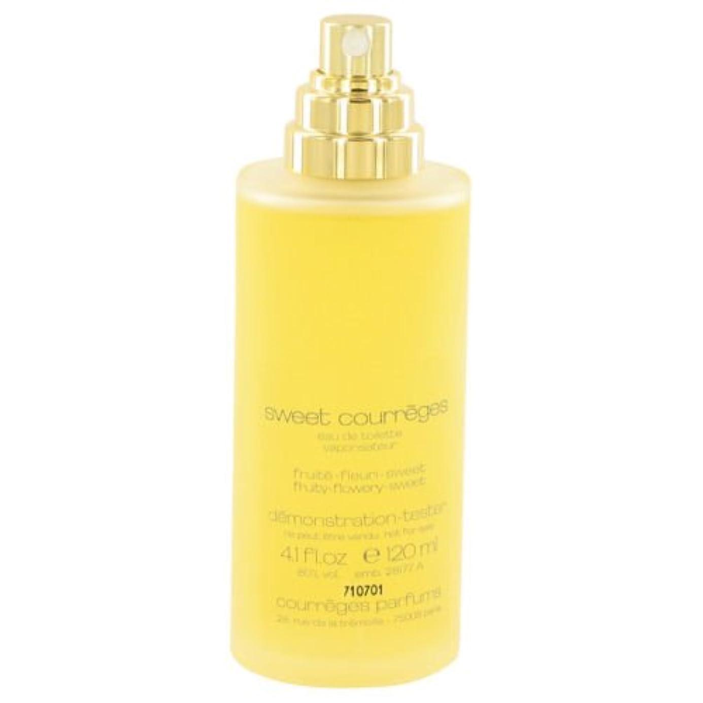 風検出色Sweet Courreges (スイート クレージュ)  4.0 oz (120ml) EDT Spray (テスター/箱なし?キャップなし) by Courreges for Women