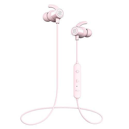 【IPX7完全防水 防汗進化】SoundPEATS(サウンドピーツ) Q30Plus Bluetooth イヤホン 高音質 低音重視 8時間連続再生 apt-Xコーデック採用 人間工学設計 マグネット搭載 CVC6.0ノイズキャンセリング マイク付き ハンズフリー通話 ブルートゥース イヤホン ワイヤレス イヤホン Bluetooth ヘッドホン[メーカー1年保証] ピンク