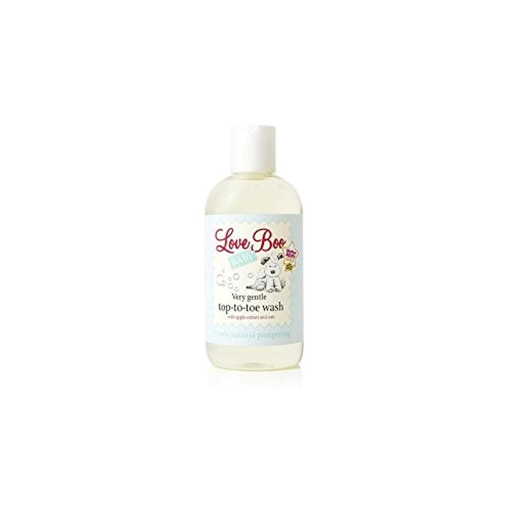 教義パプアニューギニアバラ色愛のブーイング非常に穏やかなトップからつま先まで洗浄(250ミリリットル) x4 - Love Boo Very Gentle Top-To-Toe Wash (250ml) (Pack of 4) [並行輸入品]
