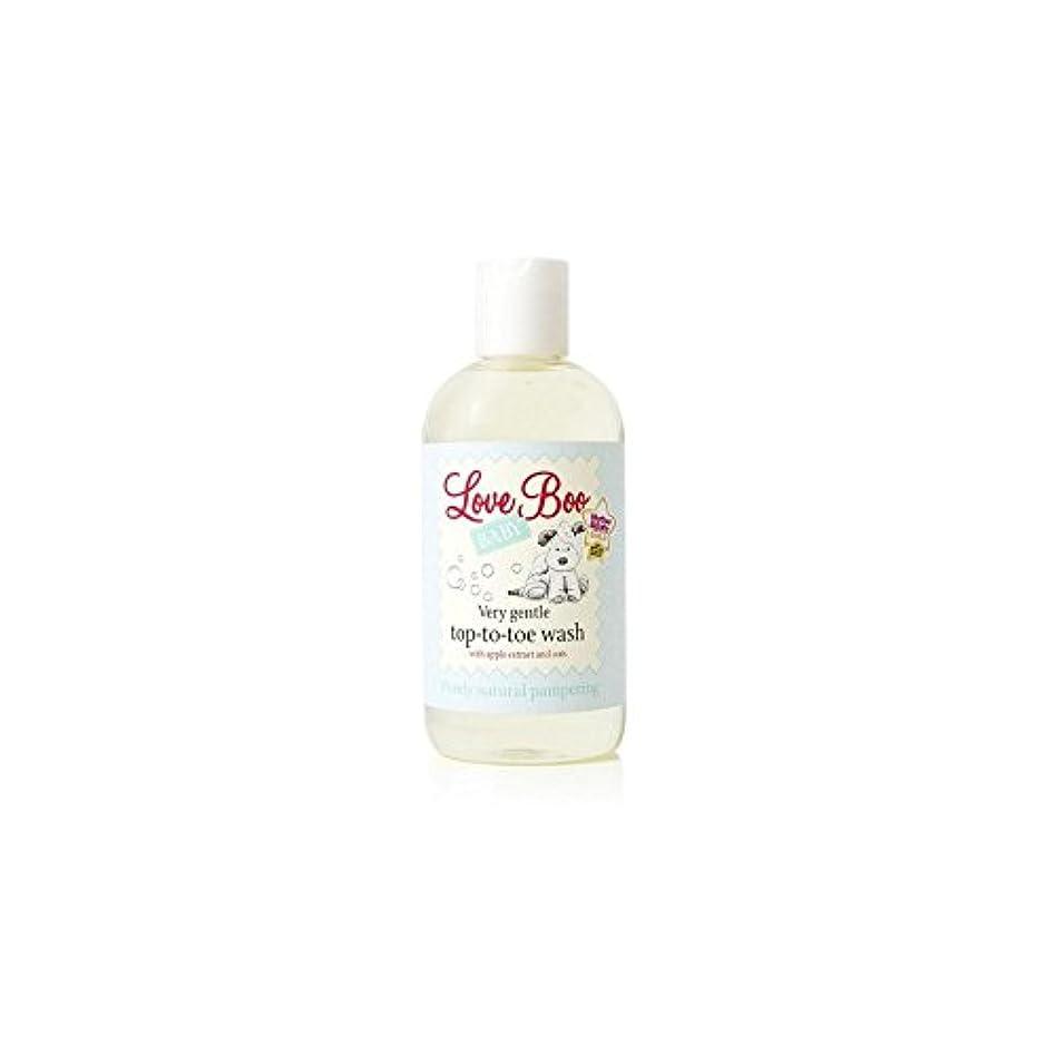 海外値下げマーカーLove Boo Very Gentle Top-To-Toe Wash (250ml) - 愛のブーイング非常に穏やかなトップからつま先まで洗浄(250ミリリットル) [並行輸入品]