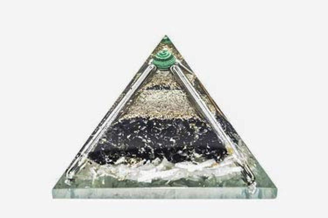 アーサーコナンドイル欺着替えるcrocon Exclusive砂漠のブラックトルマリンOrgone Pyramid with Green MalachiteボールエネルギージェネレータレイキHealingオーラクレンジング& EMFの保護サイズ: 2.5...