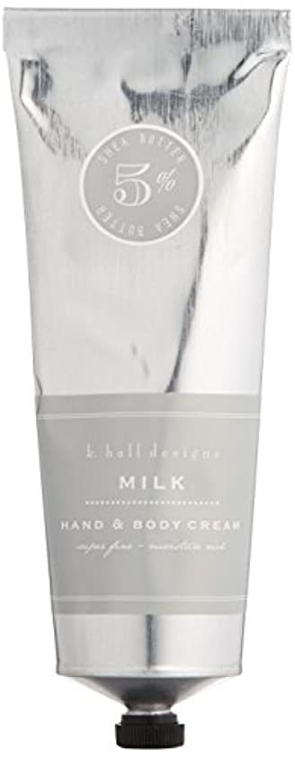 ふざけたちなみにくつろぎk.hall designs(ケイホール デザインズ) ハンド&ボディクリーム ミルク