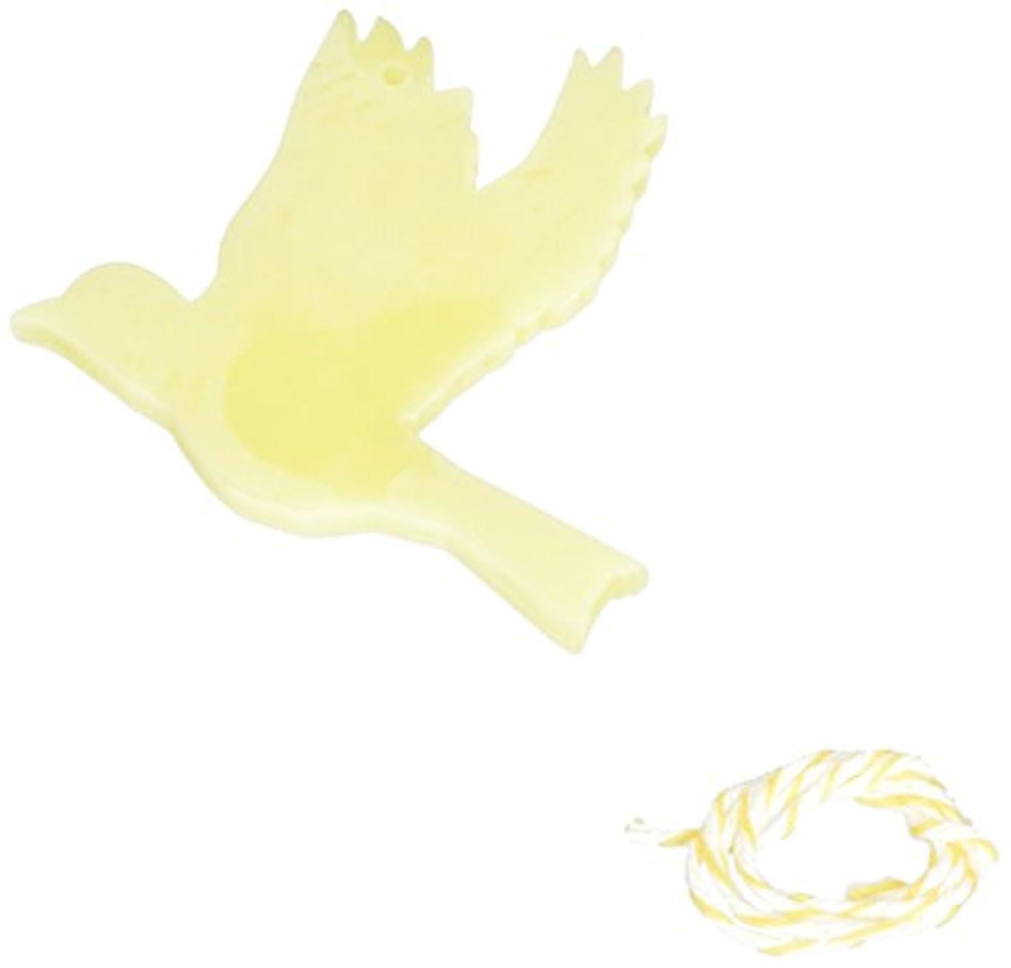 人柄将来の加害者GRASSE TOKYO AROMATICWAXチャーム「ハト」(YE) ベルガモット アロマティックワックス グラーストウキョウ
