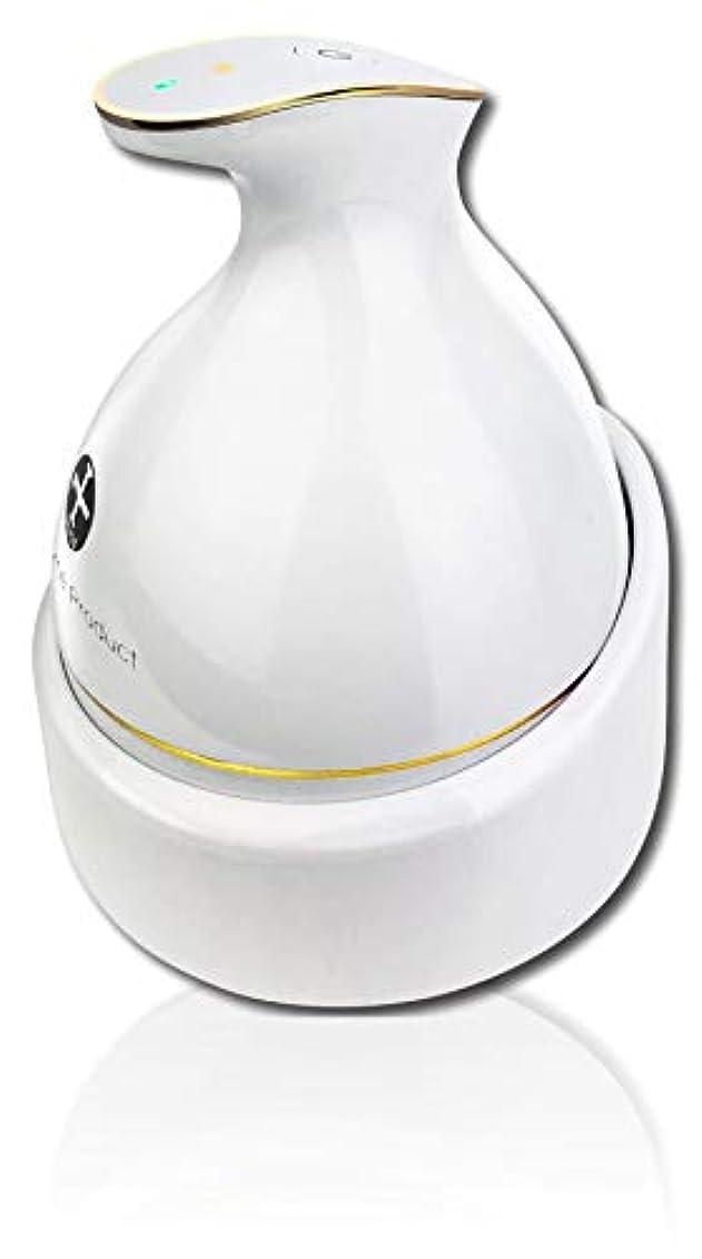 ファイバ商人放射性頭皮マッサージ 頭皮マッサージ器 KAS-1 ヘッドスパ ヘッドマッサージ 頭皮マッサージャー ヘッドマッサージャー 防水 ブラシ 電動ブラシ 育毛 頭皮ケア 電動 ホワイト WorldLI Home Product