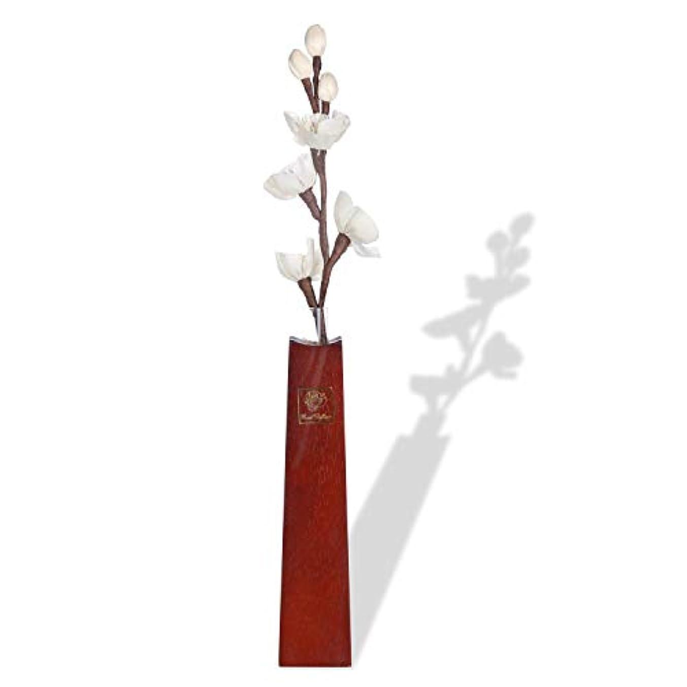 狂乱脇に容量ルームフレグランス リードディフューザー 和風純木フラワーベース アロマ花瓶 と 一輪挿し紙製造花 (香料を含まない)