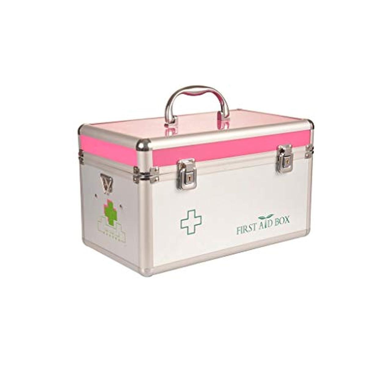些細影響を受けやすいです物語ホテルの救急箱薬収納ボックス二層医療キットポータブル医療ボックス で利用可能 GBYGDQ (Color : Pink, Size : 30×18×18cm)