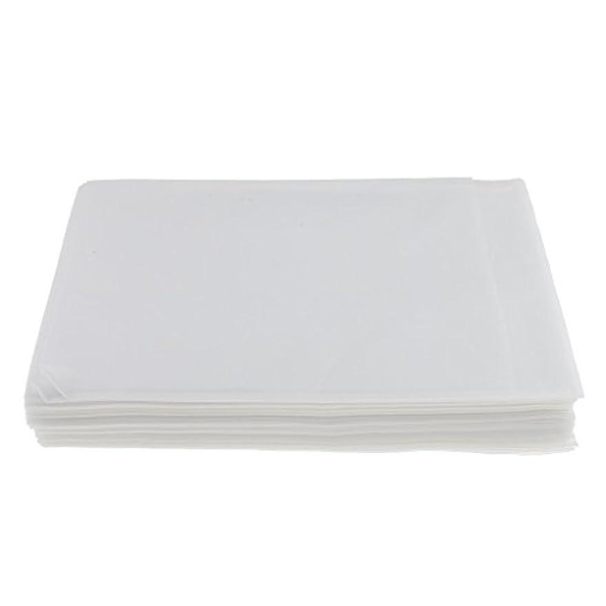 高揚したクラシカル筋Baosity 10枚入り 使い捨て 美容室/マッサージ/サロン/ホテル ベッドパッド 無織PP 衛生シート 全3色選べ - 白