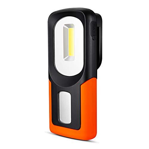 OKNAE LED作業ライトUSBヘッドライト 携帯用 調節可 グネット固定 COB ライト 応急ライト LED COB 面発光 多機能 防災 防犯 停電対策 明るい 登山 地震 非常用 フック付き 磁石固定可