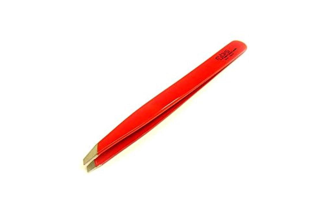 炭素ブローホールただRUBIS ルビス 毛抜き 形状 斜めカット ピンセット RED 赤 DAIKITOOL