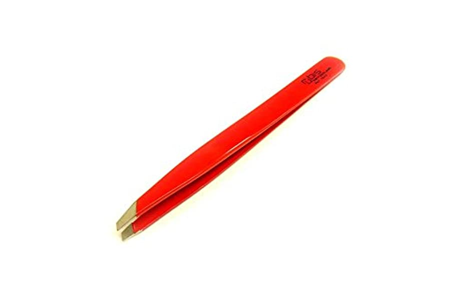 名前で体操ピストルRUBIS ルビス 毛抜き 形状 斜めカット ピンセット レッド 赤 DAIKITOOL