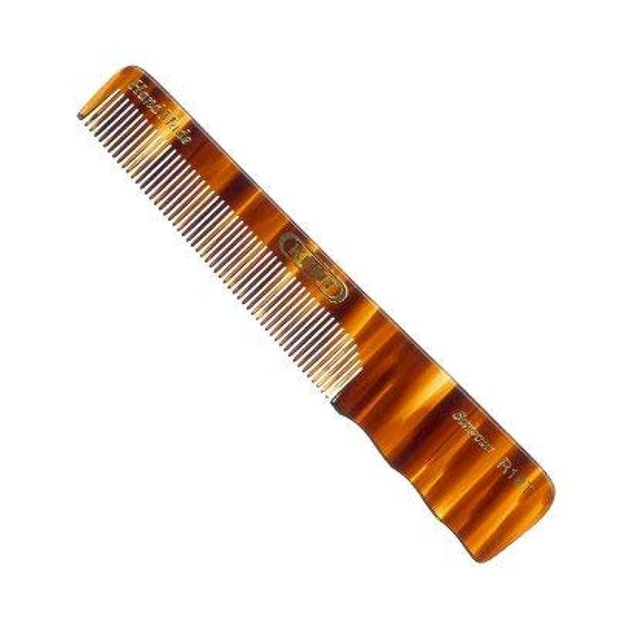 ドループ拘束する輝度Kent R18T- Men's Fine Toothed with Thumb Grip Medium 150mm/5.51