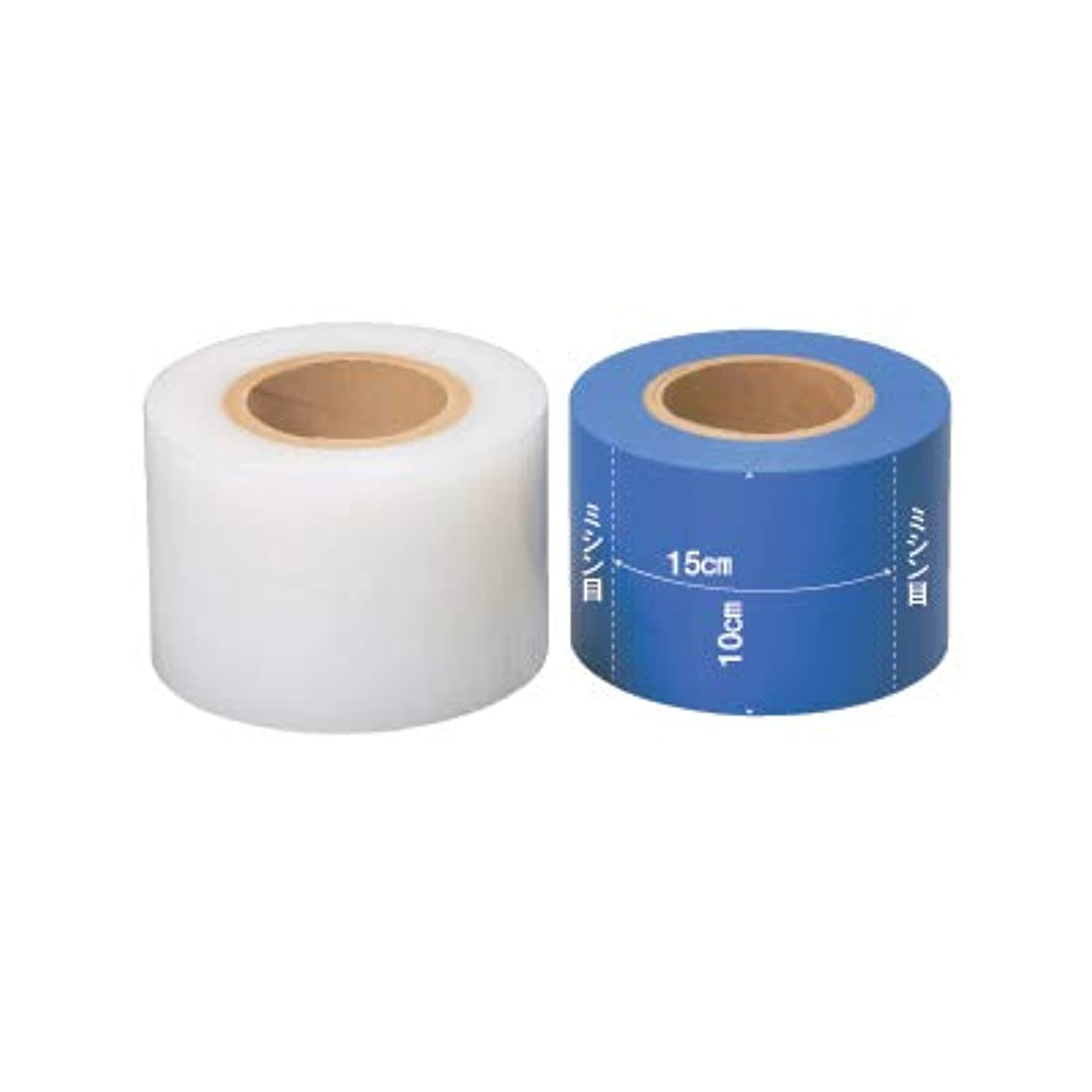 番目武器専制(ロータス)LOTUS バリアフィルムテープ 10cm×180m (保護用テープ ミシン目あり) (ブルー)
