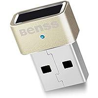 Benss UA002 USB指紋認証リーダー Windows Hello 機能対応 Windows10/8.1/8/7対応 (ゴールド)