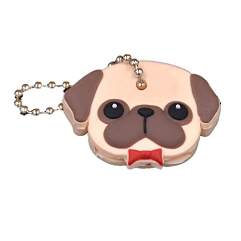 (ライチ) Lychee キーカバー キーキャップ 生活雑貨 キャラクター鍵カバー ブラウン ドッグ 犬 (ブラウン)