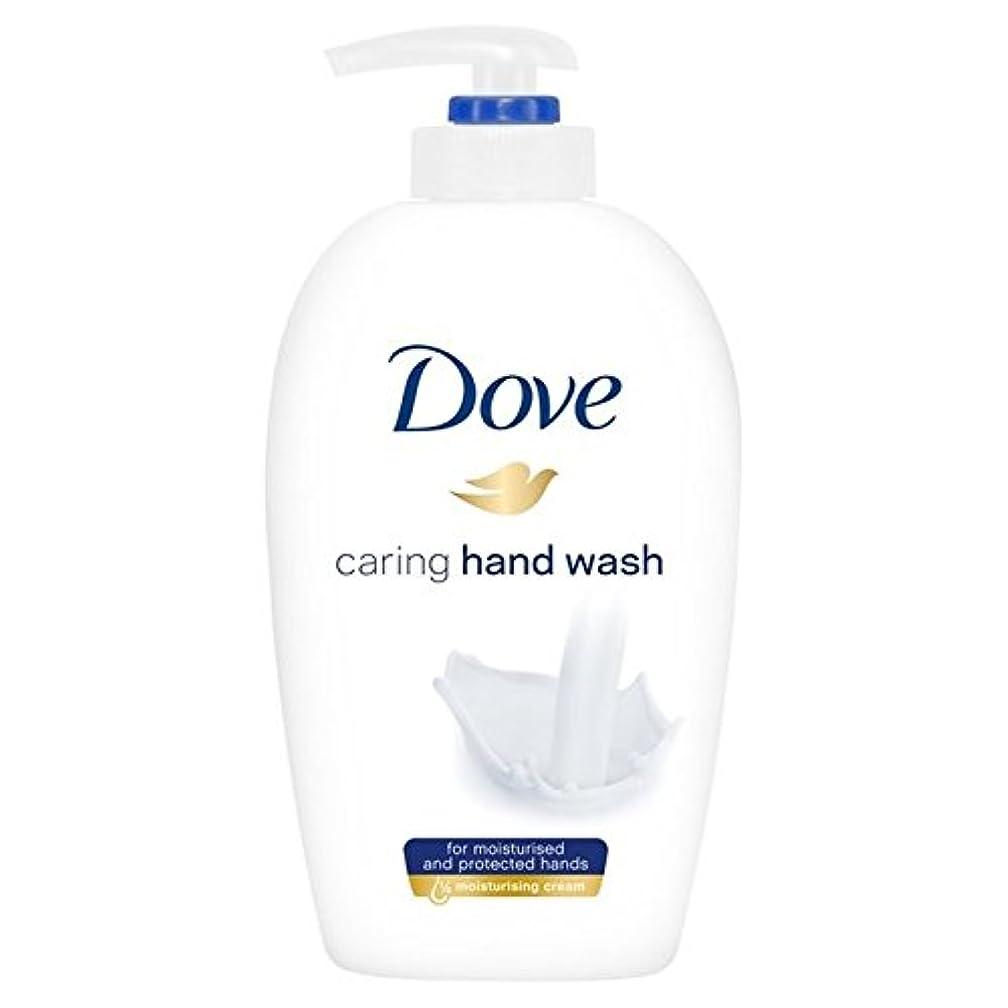 ではごきげんよう中世の鈍い鳩思いやり手洗い250ミリリットル x4 - Dove Caring Hand Wash 250ml (Pack of 4) [並行輸入品]