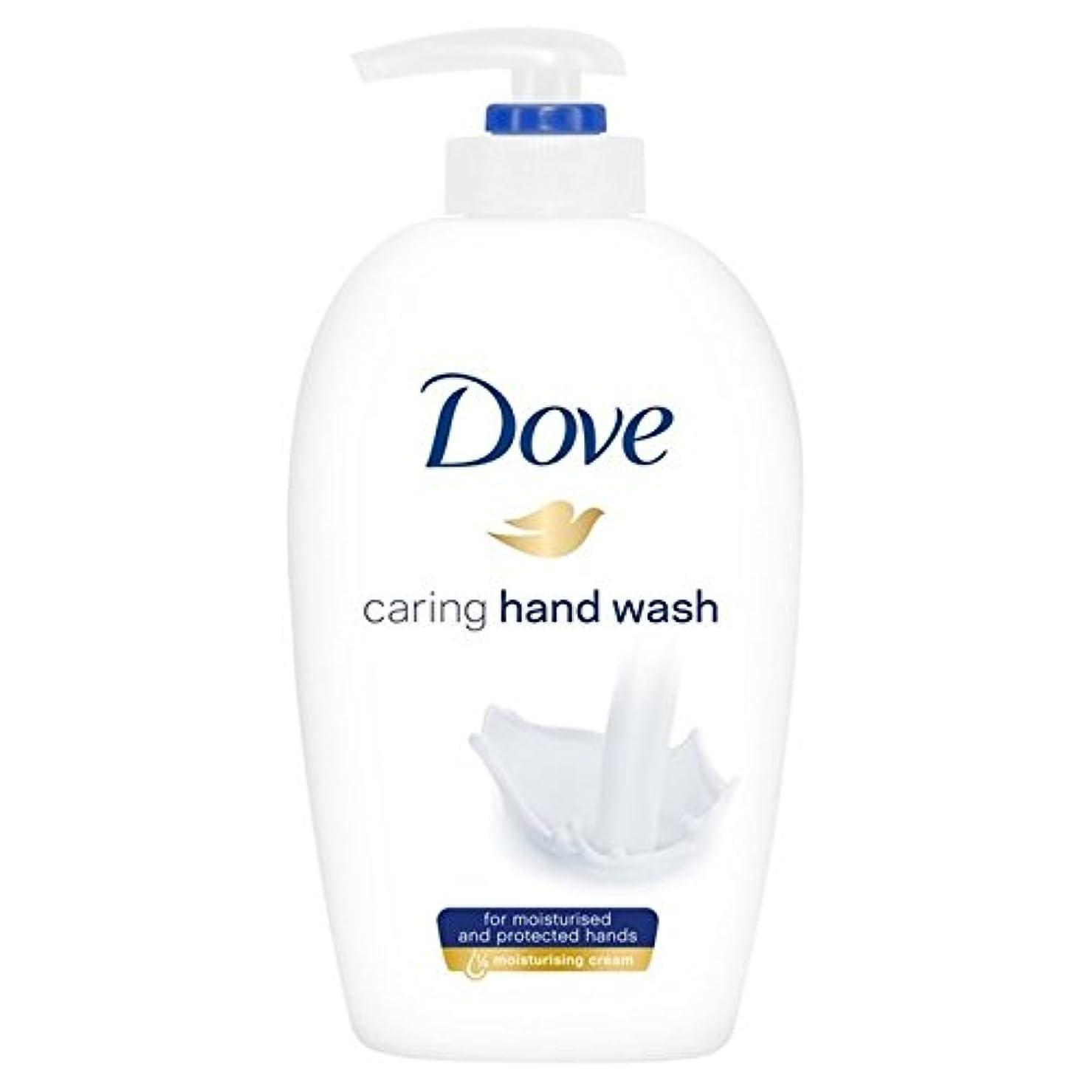 航空離れた評価可能鳩思いやり手洗い250ミリリットル x2 - Dove Caring Hand Wash 250ml (Pack of 2) [並行輸入品]