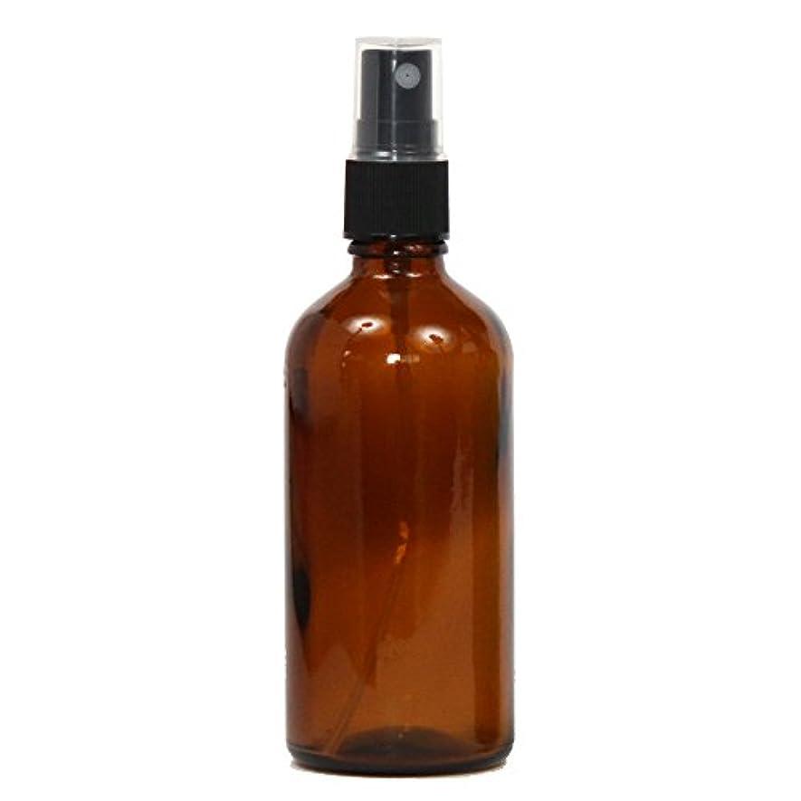 ナチュラル内向き魅力的スプレーボトル ガラス瓶 100mL 遮光性ブラウン(アンバー) おしゃれアトマイザー ミスト空容器