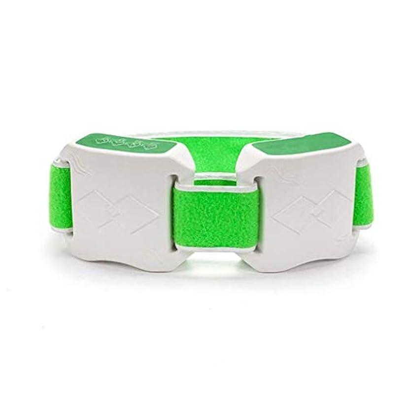 二層ラジカル保証金減量ベルト、Slim身マシン、女性Slim身ベルト、加熱/振動燃焼脂肪ベルト、腹部減量マッサージ機 (Color : 緑)