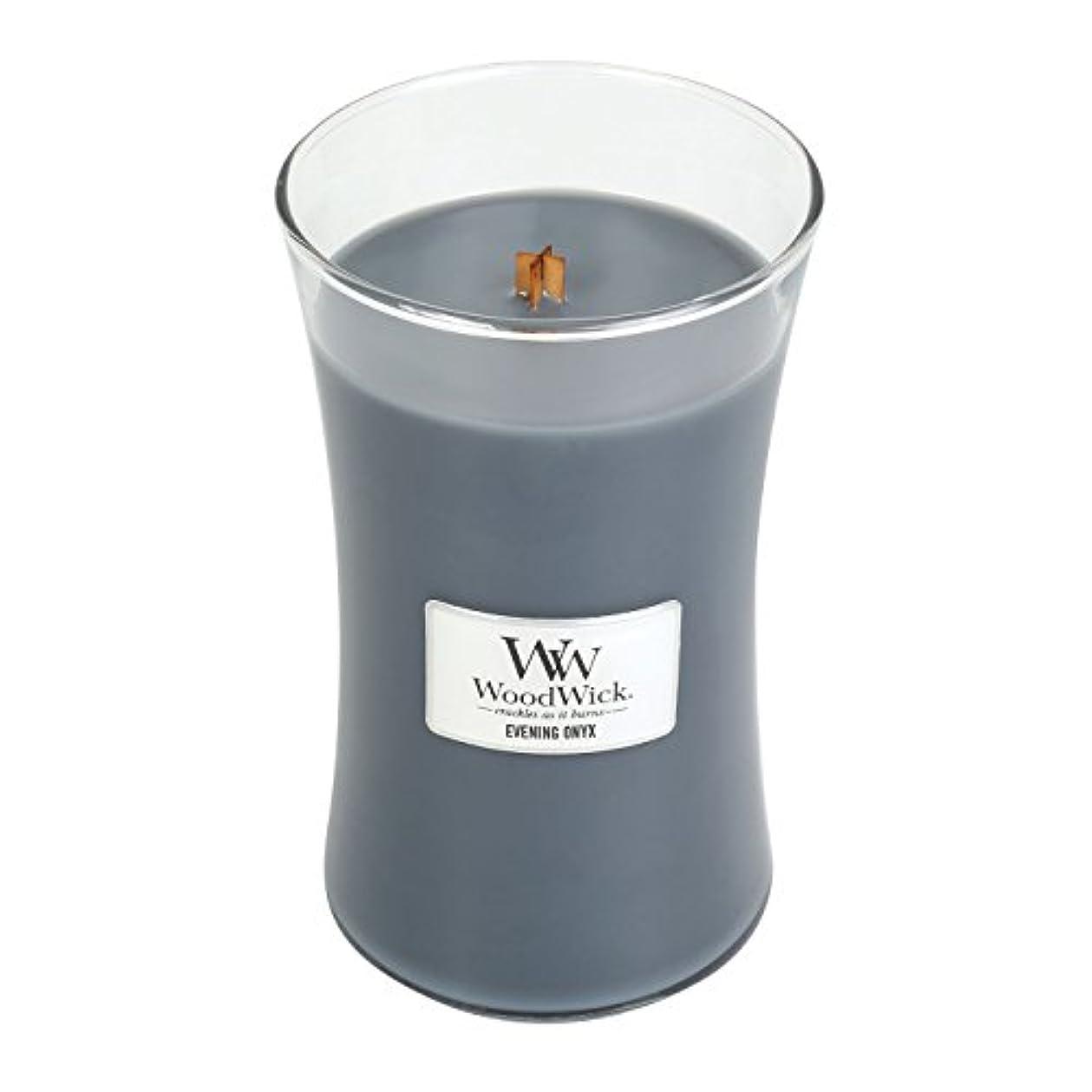 オッズあいまいさばかWoodWick EVENING ONYX, Highly Scented Candle, Classic Hourglass Jar, Large 18cm, 640ml