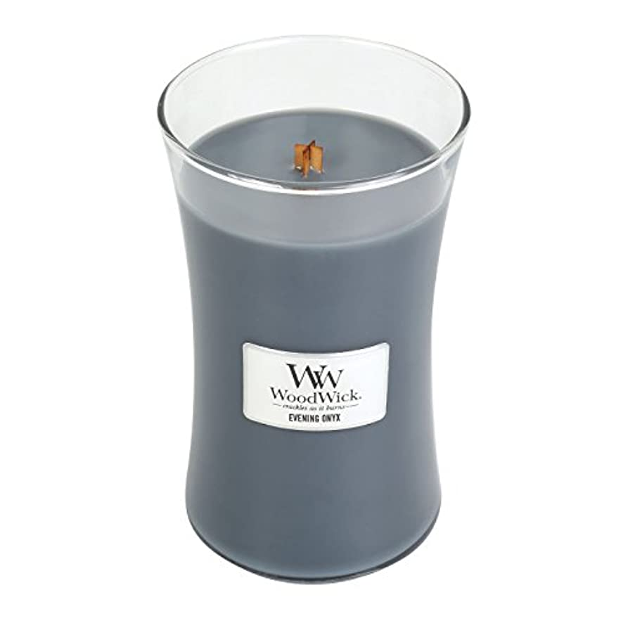 WoodWick EVENING ONYX, Highly Scented Candle, Classic Hourglass Jar, Large 18cm, 640ml