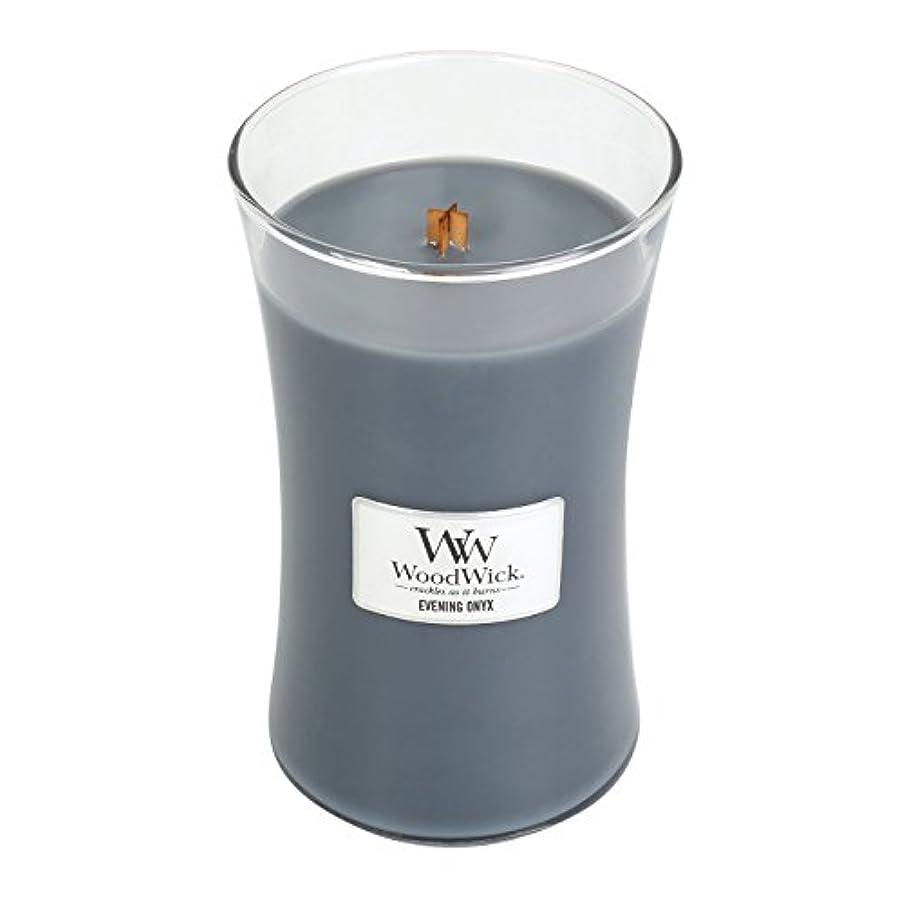 簡略化する暗くする買収WoodWick EVENING ONYX, Highly Scented Candle, Classic Hourglass Jar, Large 18cm, 640ml