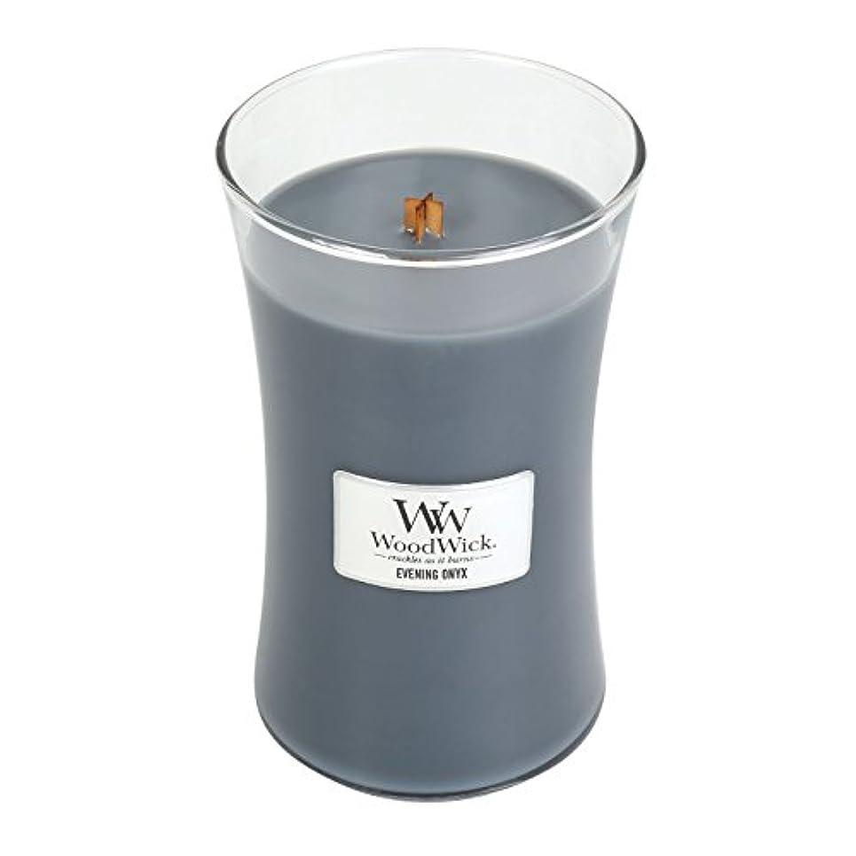 短命熱心な約WoodWick EVENING ONYX, Highly Scented Candle, Classic Hourglass Jar, Large 18cm, 640ml