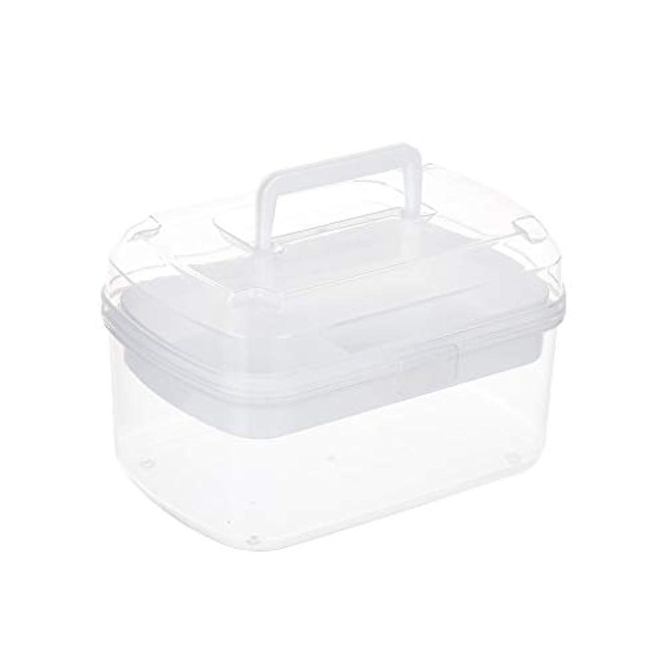 ゴネリル女優プラットフォーム家庭用薬箱小さな薬箱薬収納ボックスポータブル多層救急箱透明色 GBYGDQ