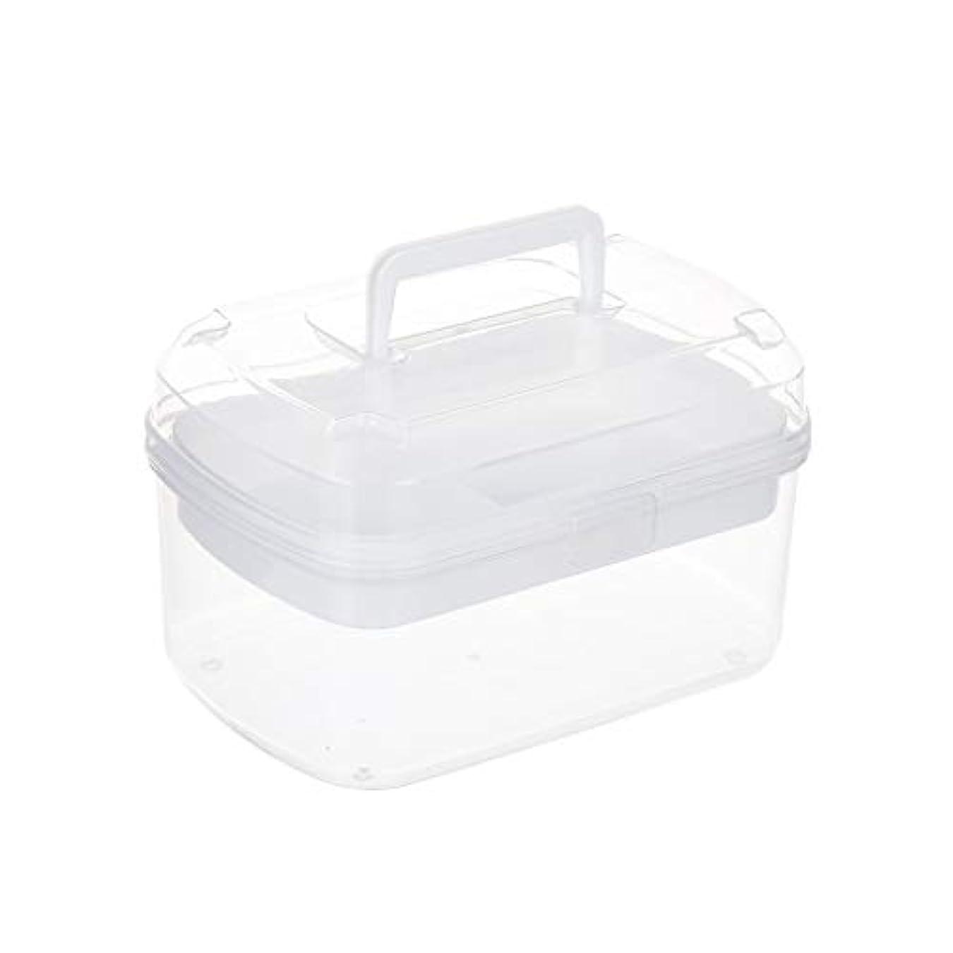 列車救い寮家庭用薬箱小さな薬箱薬収納ボックスポータブル多層救急箱透明色 CQQO