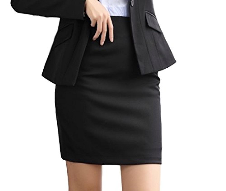 [イチイチキュウホンポ] レディ-ス ビジネス パンツ&スカートスーツ 単品スカート 事務服 セレモニー 結婚式(黒/灰/薄灰 M~3XL)