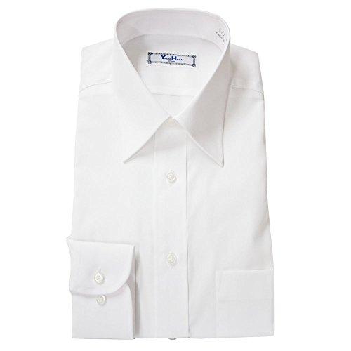 (ユキコハナイ)YUKIKO HANAI 形態安定 ワイシャツ 綿100% 白無地 防汚加工 ホワイトブロード Yシャツ