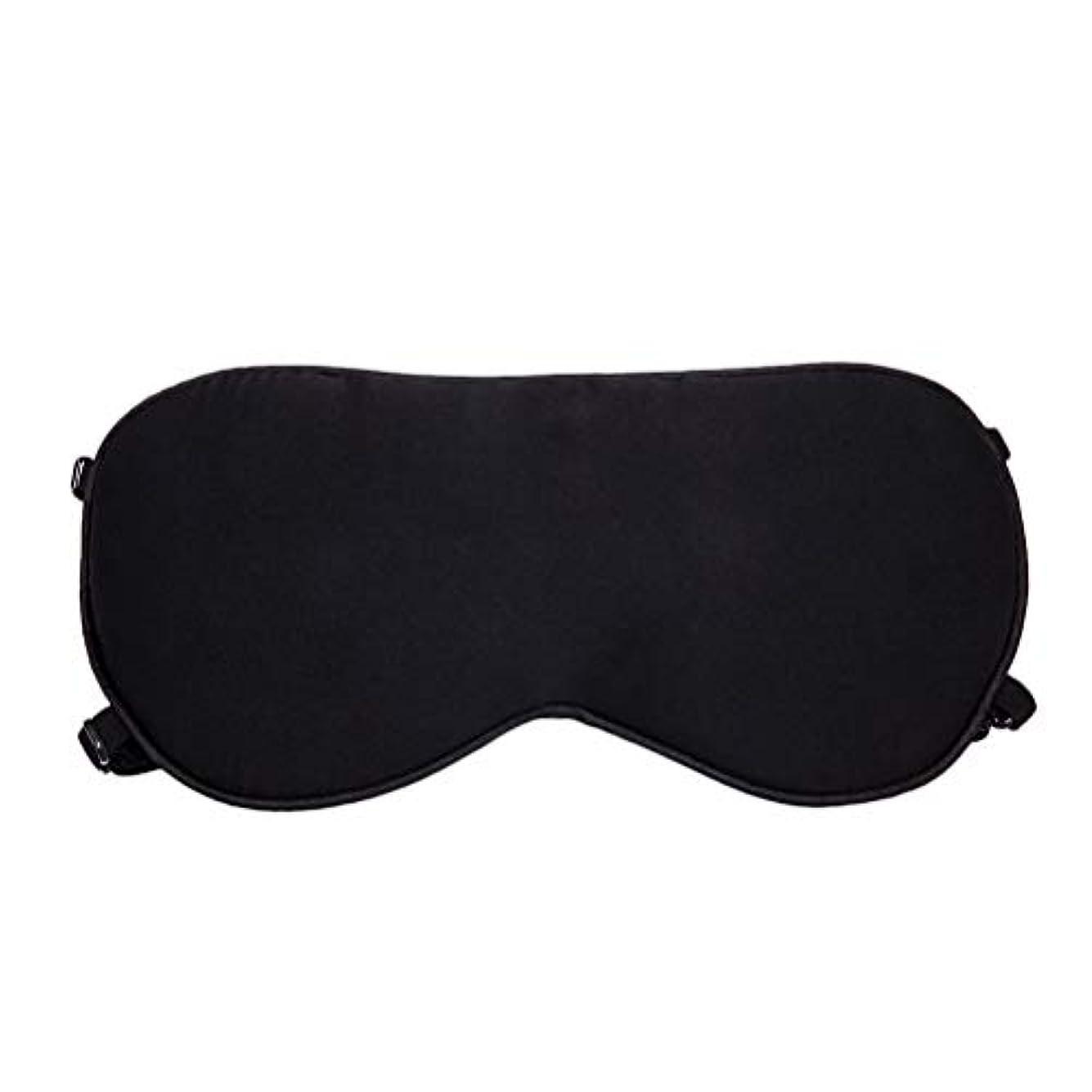 伝記ニックネーム肌SUPVOX スリーピングマスクシルクアイマスク目隠し調節可能な快適なナイトアイカバー大人子供のためのホームベッド旅行フライトカーキャンプ用(黒)