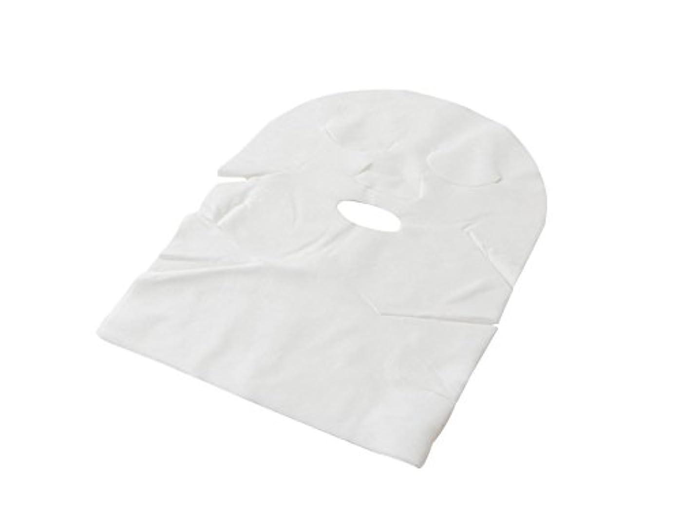 着飾る織機うん【業務用 高品質】フェイスマスク フェイスシート ネック付 化粧水パック/ローションパック用