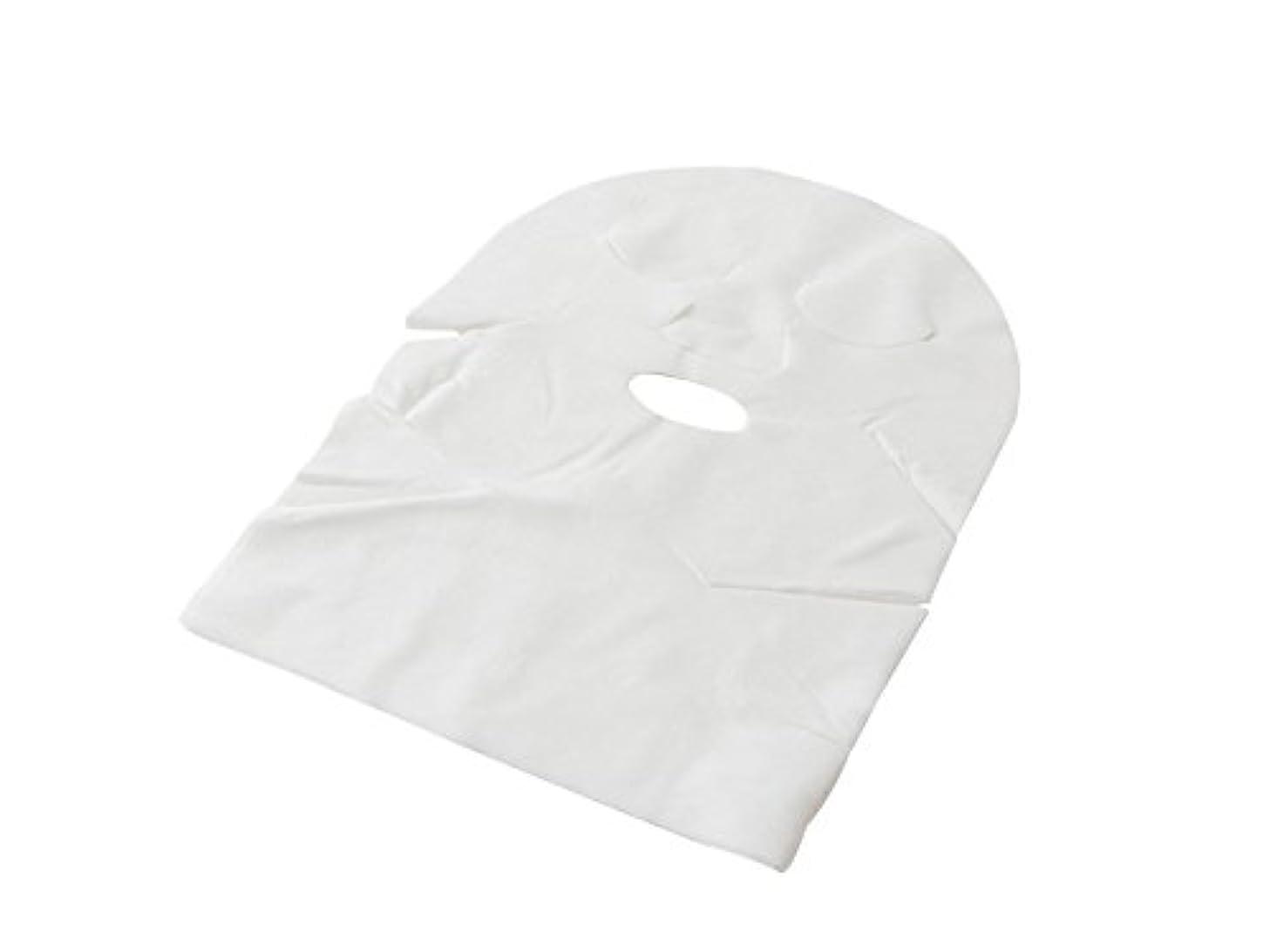 酸補助あえぎ【業務用 高品質】フェイスマスク フェイスシート ネック付 化粧水パック/ローションパック用