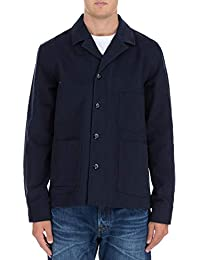 Acne Studios メンズ 22K176MEDIATWILLNAVY ブルー コットン ジャケット