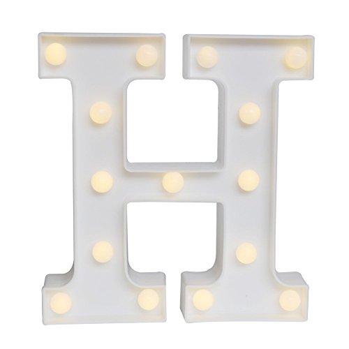 LED イルミネーション イニシャルライト アルファベットライト ホームイベント インテリア ギフト (H)