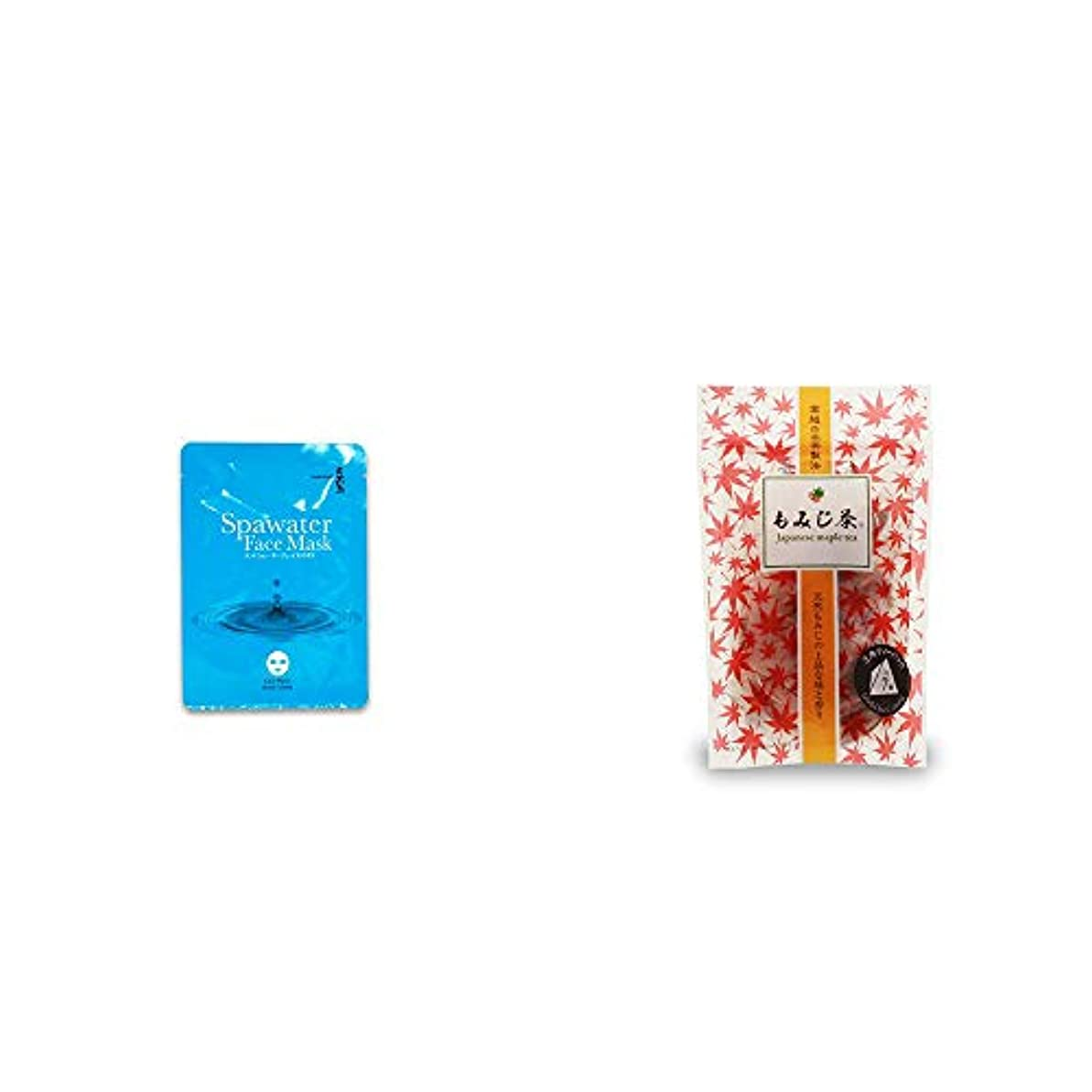 マウスピース適切なペルソナ[2点セット] ひのき炭黒泉 スパウォーターフェイスマスク(18ml×3枚入)?もみじ茶(7パック入)