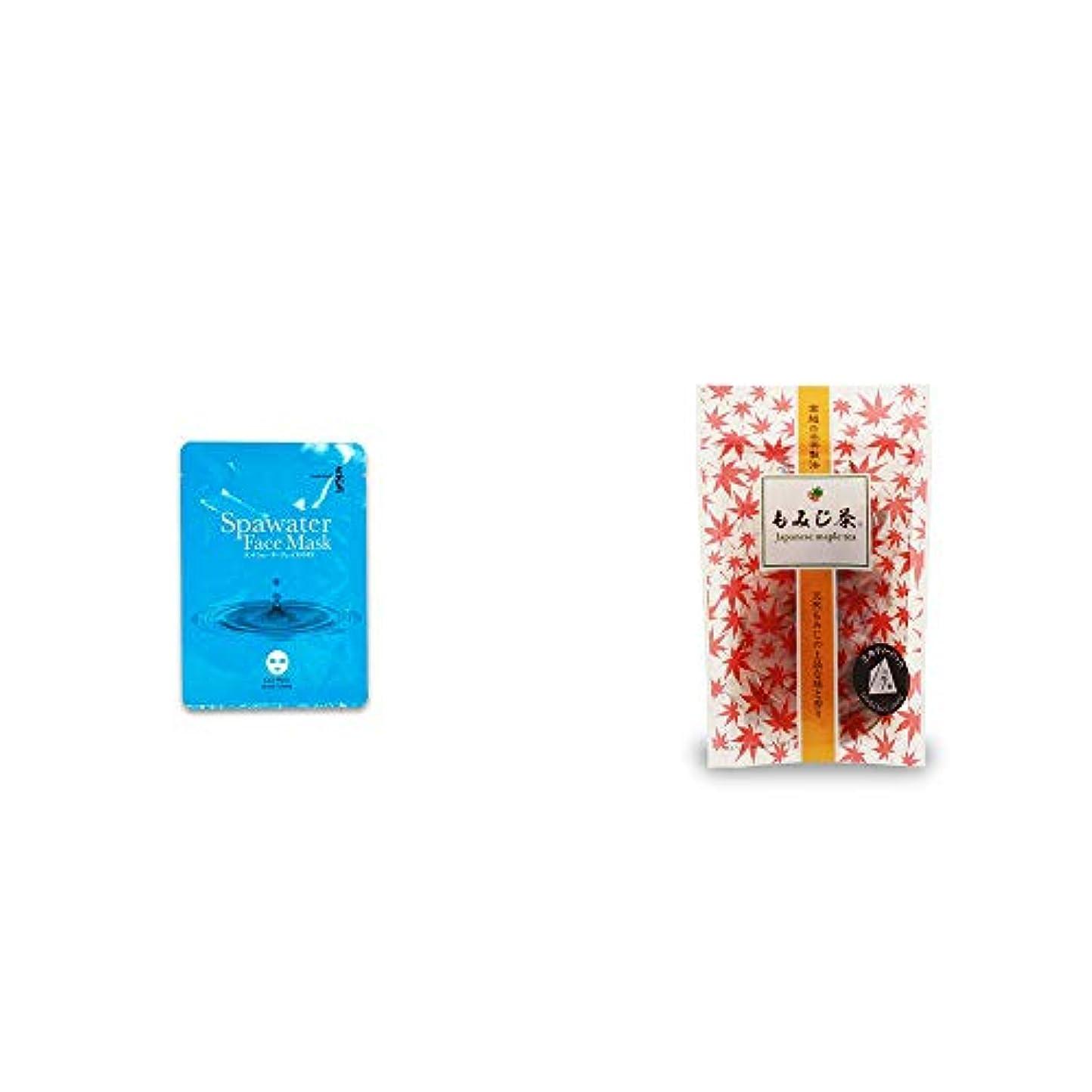 パントリートチの実の木ストレッチ[2点セット] ひのき炭黒泉 スパウォーターフェイスマスク(18ml×3枚入)?もみじ茶(7パック入)