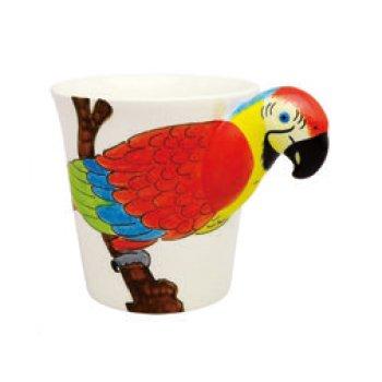 アニマルマグ レッドマカウ ANIMAL MUG red macaw Meelarp Ceramic